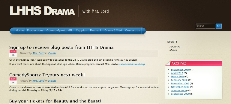 Laguna Hills High School, Drama Department - lhhsdrama.com