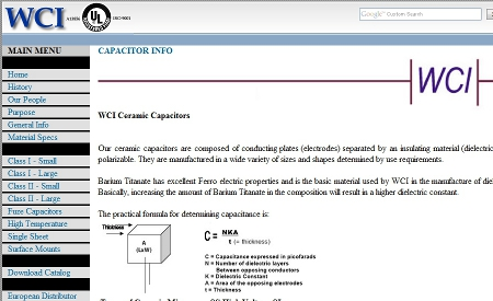 Wright Capacitors, Inc. Homepage