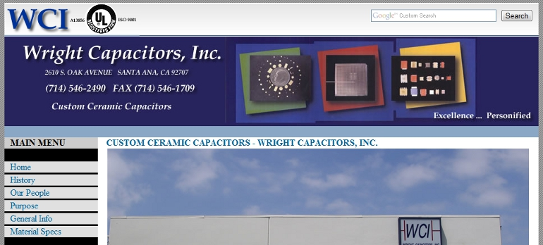 Wright Capacitors, Inc. - wrightcapacitors.com